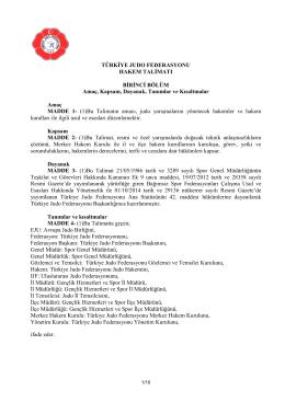 Hakem Talimatı - Türkiye Judo Federasyonu