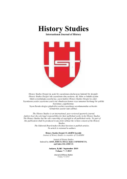 History Studies International Journal of History