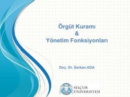 Modern Dönem - Doç. Dr. Serkan Ada