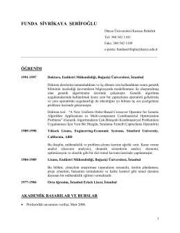 Prof.Dr. Funda SİVRİKAYA ŞERİFOĞLU