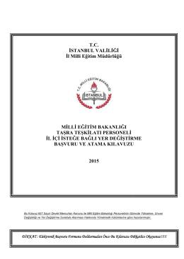 2. Kılavuz - İstanbul MEM - İstanbul İl Milli Eğitim Müdürlüğü