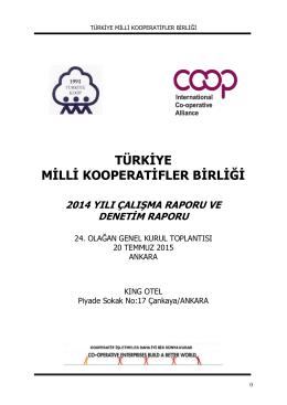 Dökümanı indirmek için tıklayınız - Türkiye Milli Kooperatifler Birliği