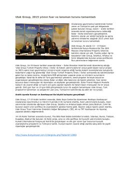 Ulak Group, 2015 yılının fuar ve lansman turunu tamamladı http
