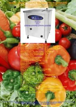 endüstriyel sebze meyve yıkama makinesi kataloğu