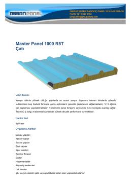 Master Panel 1000 R5T Çatı