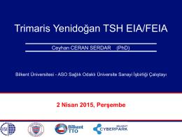 Yenidoğan TSH Testi Geliştirilmesi