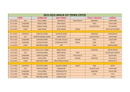 2015-2016 aralık ayı yemek listesi