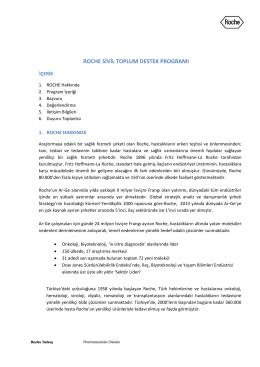 Roche Sivil Toplum Destek Programı Tanıtım Belgesi