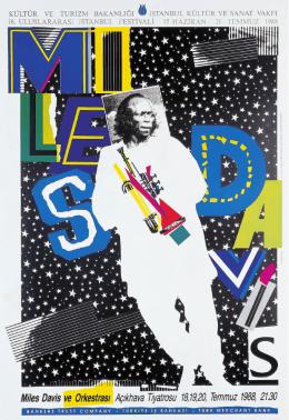 YAYIN Sadık Karamustafa Miles Davis konseri için afiş, 16