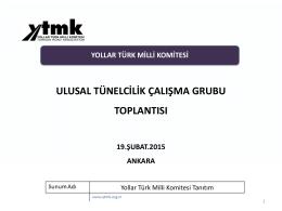 Yollar Türk Milli Komitesi Tanıtım