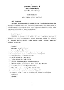 3. MEVÜ Yurtiçi ve Yurtdışı Bilimsel Toplantılara Katılım Yönergesi