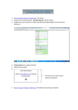 1. http://e-yaygin.meb.gov.tr/Login.aspx linki tıklanır. 2. Açılan
