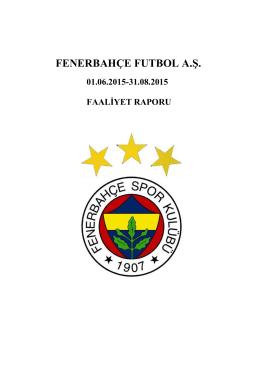 FENERBAHÇE FUTBOL A.Ş. - Fenerbahçe Spor Kulübü
