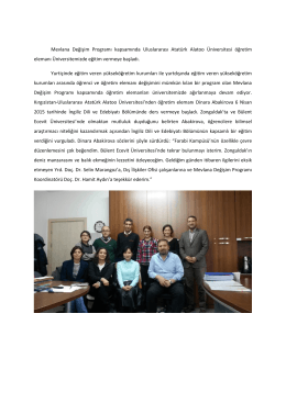 Kırgızistan-Uluslararası Atatürk Alatoo Üniversitesi ile Değişim