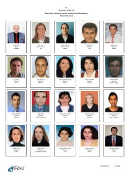 Öğretmenlerimiz - Atatürk Anadolu Lisesi