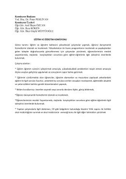 eğitim ve öğretim komisyonu - Demirci Meslek Yüksekokulu