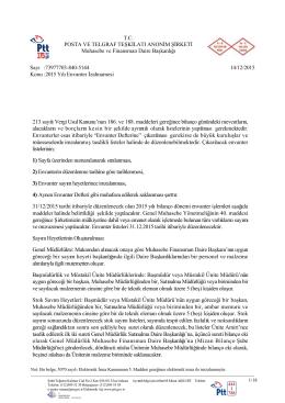213 sayılı Vergi Usul Kanunu`nun 186. ve 188. maddeleri gereğince