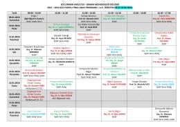 ORMAN MÜHENDİSLİĞİ BÖLÜMÜ 2015 – 2016