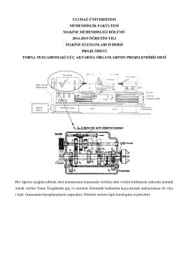 uludağ üniversitesi mühendislik fakültesi makine mühendisliği