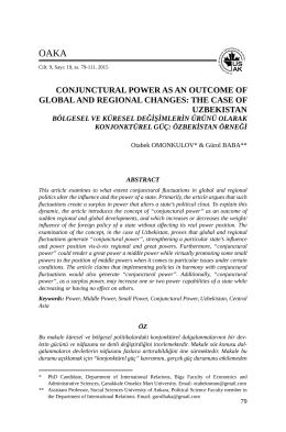 Conjunctural Power as an Outcome of Global and Regional