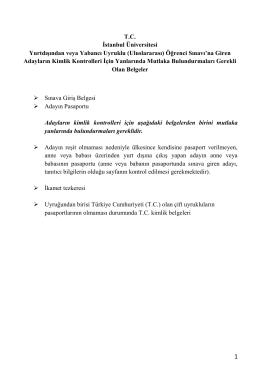 İÜYÖS Yönergesi - İstanbul Üniversitesi