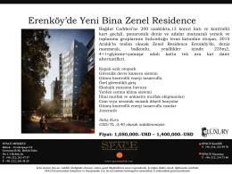 Erenköy`de Yeni Bina Zenel Residence