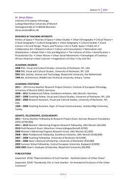 Oezkan CV - Institut für Volkskunde