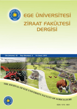 Ziraat Fakültesi Dergisi 52, (2) 2015 : ISSN 1018