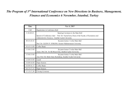 The Program of 3 International Conference on New Directions in