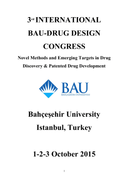 Congress book. - 3rd International BAU Drug Design