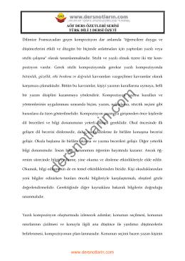 TÜRK DİLİ 2 - Açıköğretim Tarih Bölümü