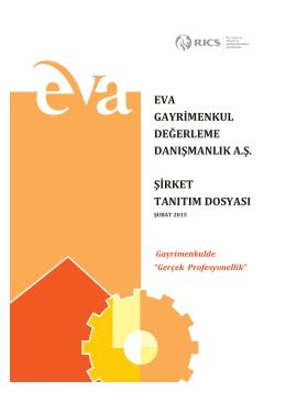 eva gayrimenkul değerleme danışmanlık a.ş. şirket tanıtım dosyası