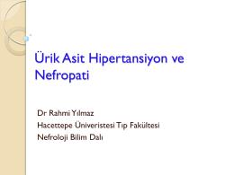 Dr. Rahmi Yılmaz - Türk Hipertansiyon ve Böbrek Hastalıkları Derneği