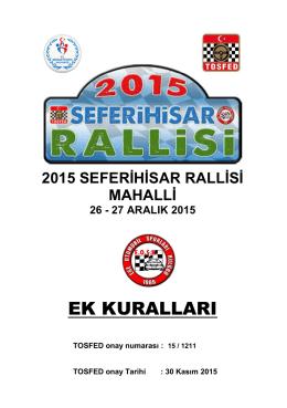 EK KURALLARI - Ege Otomobil Sporları Kulübü