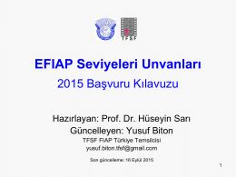 EFIAP Seviyeleri Unvanları