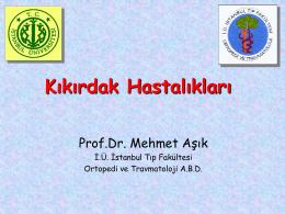 Kıkırdak Hastalıkları - Prof. Dr. Mehmet AŞIK