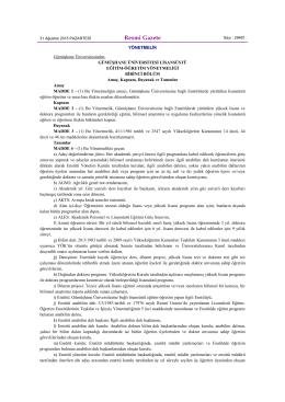 Gümüşhane Üniversitesi Lisansüstü Eğitim