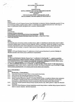 sultanbeyli belediyesi ve shcek arasında işbirliği protokolü