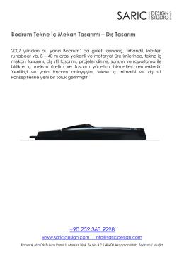 Bodrum Tekne İç Mekan Tasarımı – Dış Tasarım +90 252 363 9298
