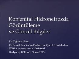 Konjenital Hidronefroz - çocuk radyolojisi derneği
