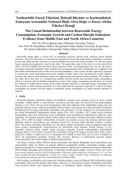 Yenilenebilir Enerji Tüketimi, İktisadi Büyüme ve Karbondioksit