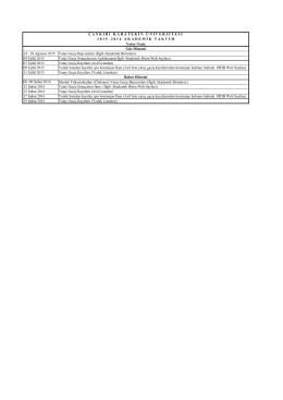 28 Ağustos 2015 Yatay Geçiş Başvuruları (İlgili Akademik Birimlere)