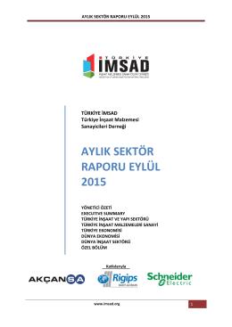 aylık sektör raporu eylül 2015