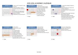 2015-2016 academıc calendar