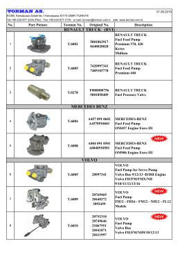 Torman Fuel Feed Pumps