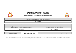 GALATASARAY SPOR KULÜBÜ - Galatasaray Spor Okulları