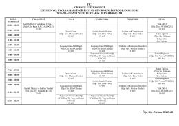 Uygulamalı İngilizce ve Çevirmenlik Programı 1. Sınıf