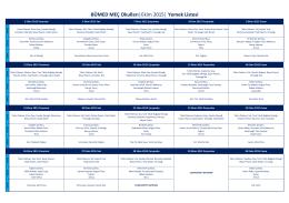 BÜMED MEÇ Okulları  Ekim 2015   Yemek Listesi