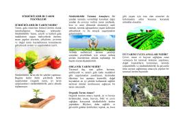 Sürdürülebilir Tarım - Kütahya İl Gıda Tarım ve Hayvancılık Müdürlüğü