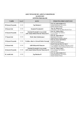 Kasım 2015 Asistan Eğitim Programı